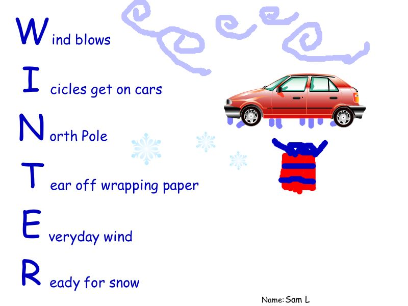 acrostic poem examples. SPG – Winter Acrostic Poems